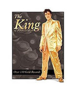 Elvis Presley Gold Suit Figure Tin Sign Reproduction LIGHT SCRATCHED NEW - $4.99