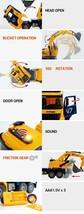 Yoowon Toys Titan Excavator Truck Sound Lights Vehicle Heavy Equipment Toy Car image 2