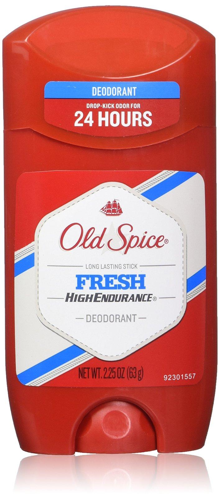 Old Spice High Endurance Fresh Scent Men's Deodorant 2.25 OZ (Pack of 6)