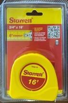 """Starrett KTS34-16-N 3/4"""" x 16' English Measuring Tape- Graduated in 1/16"""" - $3.96"""