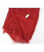 "Calvin Klein Rust Long Rectangle Neck Scarf 74cm x 190cm Soft Wrap 29"" x... - $35.59"