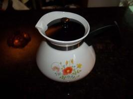 Wild Flower P-104 6 Cup Corning Ware Tea Pot with Plastic Lid - $35.16