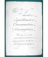 "1826 PENMANSHIP Calligraphy Round Hand - 12"" x 18"" (30 x 46 cm) Superb P... - $30.34"