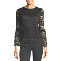 Womens Sexy Blouse Bell Sleeve Top Lace Fashion Button On Back Ruffle M ... - $12.88