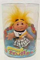 Original Good Luck Troll DAM Doll 2006 New NOS 63800 Yellow Skull Plaid ... - $29.69