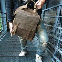 Sale, Handmade Men Backpack, Horse Leather Travel Backpack, Vintage Laptop Backp image 2
