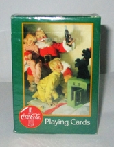 Coca Cola Santa Claus Playing Cards Mint in Factory Wrap 1996 - $8.95