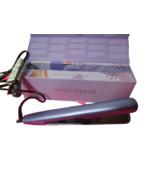 Zin One Hauteness 2 In 1 Styler Hair Straightner Curling Iron Iris Purpl... - $28.71