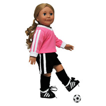 "18"" Doll Clothes SOCCER SHORTS,JERSEY, SOCKS Outfit Fits American Girl C... - $14.95"