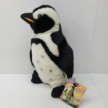 "Fiesta Black Footed Penguin PLush Stuffed ANimal Relaistic NEw 13"" - $506,29 MXN"