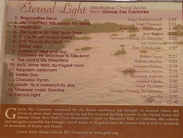 ETERNAL LIGHT by Gloriae Dei Cantores image 3