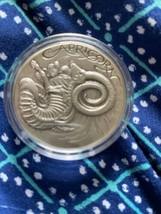 ZODIAC CAPRICORN MEMENTO MORI  Rimless HR Antique Silver 1oz  - $98.99