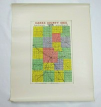 Antique 1908 Darke County Ohio Map, LARGE Railroad & Township Color Map ... - $39.99
