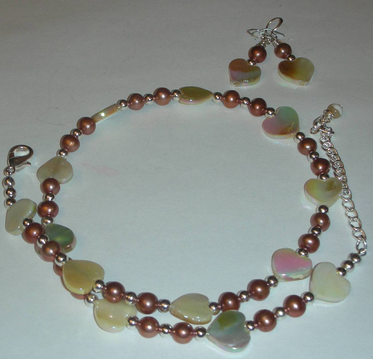 Genuine Mother of Pearl And Fresh Water Pearls Necklace