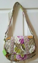 Vera Bradley Saddle Up Messenger Bag Portobello Road NWT Floral Pink Green - £21.89 GBP