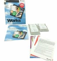 Microsoft Works 4.0 for Windows 95 Vintage Big Box PC Software Applicati... - $51.19
