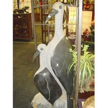 Shona Art Long Neck Birds Stone Statue African Artist Signed Sculpture B... - $34,649.99