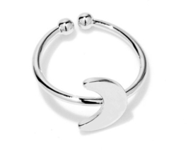 1 piece of White Gold Plated Moon Ring (JZ061A)XH - $2.50
