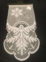 Heritage Lace Snow Angels Joy Wall Hanging Christmas Holiday Home Decor NWT - $14.99