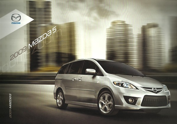 Primary image for 2009 Mazda 5 MAZDA5 sales brochure catalog 09 US