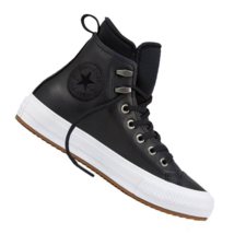 Converse Women CTAS WP Boot Hi Waterproof Leather 557943C Black/White Si... - $54.98