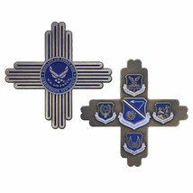 "KIRTLAND AIR FORCE BASE ALBUQUERQUE NEW MEXICO 1.75"" CROSS CHALLENGE COIN - $16.24"