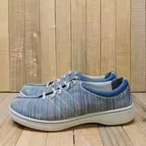 Dansko Women's Brandi Woven Textured Lace Up Shoes Size 39 Blue Madras Sneakers - $35.95