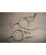 Hand woven dreamcatcher earrings - $12.50
