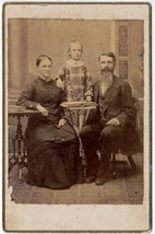 Abbie Wood, Photographer Husband, Child Lizzie Wood Cabinet Photo  - $17.50