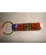 Hand beaded key fob - $8.50