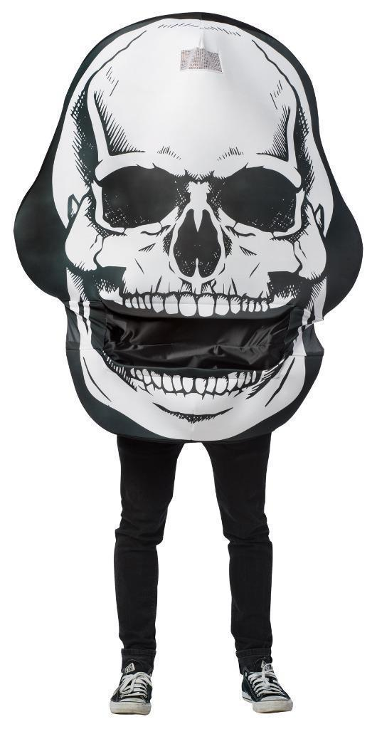 Skull Mouth Head Costume Adult Men Women Halloween Party Unique One Size GC7296