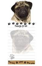 PUG FAWN DOG DIECUT LIST PAD NOTES NOTEPAD Magnetic Magnet Refrigerator - $7.99