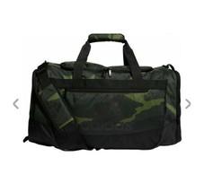 TECH OLIVE GRID CAMO/BLK adidas Defender III Medium Duffle Bag (D) - $168.29