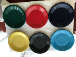 6 Fiesta Plates Assorted Post 82 Colors Mint Condition - $39.99