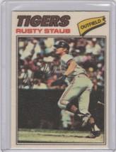 1977 Topps Cloth Stickers #46 Rusty Staub - $1.42