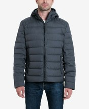 New $225 Michael Kors Men's Down Packable Puffer Jacket Gun Metal Dark Grey Sz S - $159.48