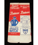 Hopalong Cassidy unused unfolded Producer's Milk box - $19.99
