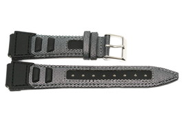 18mm Black Gray Nylon Leather Sport Tech Waterproof Watch Band Strap - $12.38