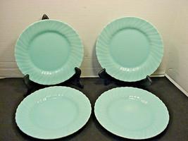 Franciscan Coronado Aqua Matte 4 Salad Plates Blue - $34.65