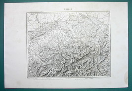 1846 MAP - SWITZERLAND & Lichtenstein - $14.85