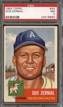 1953 Topps #42 Gus Zernial Psa 7 Athletics *DS6385 - $41.00