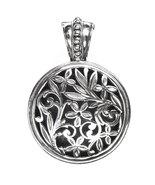 Gerochristo 3353 - Sterling Silver Medieval Byzantine Filigree Round Pe... - $150.00