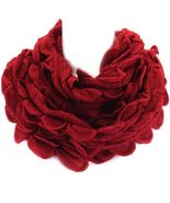 Cold weather infinity skinny scarf Burgundy red... - $16.82
