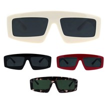 Womens Retro Flat Top Thick Plastic Mod Rectangular Sunglasses - $9.95