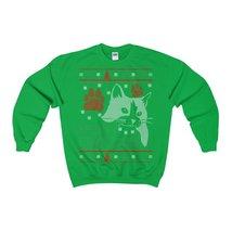 meowy christmas cat ugly christmas sweatshirt xmas - $29.95+