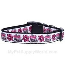 Mirage Pet Products Dangerous in Camo Nylon Ribbon Dog Collar, Medium - $16.19