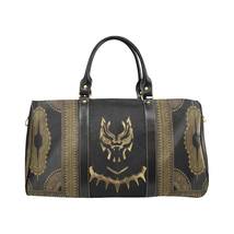 Black Gold Black Panther Style Large Travel Bag Custom Handmade Women Su... - $129.97