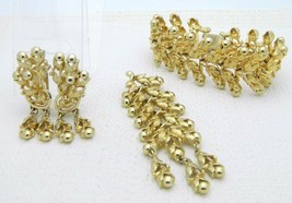 VTG Tortolani GT Articulated Floral Flower Pin Brooch Earring Bracelet Set - $98.99