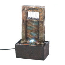 Tabletop Fountains Indoor, Modern Water Fountain Home, Made Of Polyresin - $33.28