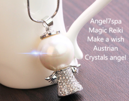 "Magic Reiki  ""Make a wish "" Angel Austrian Crystals Necklace  spellbound  - $19.99"